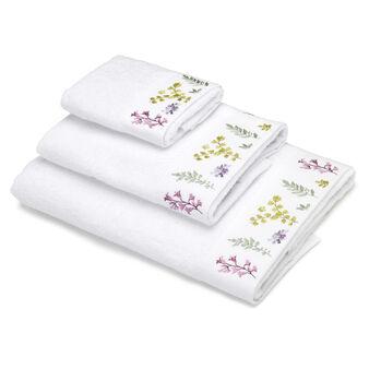 Asciugamano puro cotone riccio ricamato