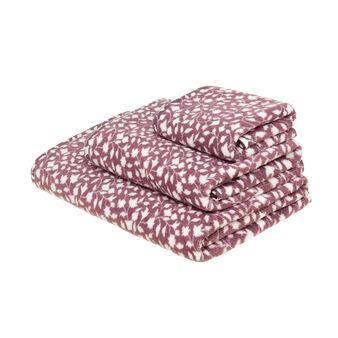 Asciugamano in puro cotone stampa foglie