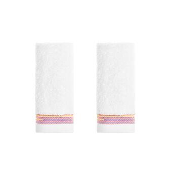 Set 2 lavette puro cotone riccio multiriga