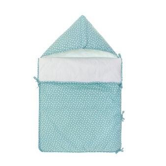 Sacco nanna in cotone azzurro con stampa stelline
