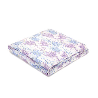 Trapunta leggera puro cotone percalle floreale