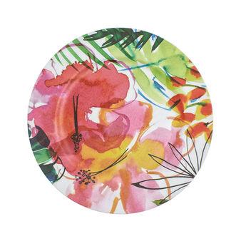 Sottopiatto plastica floreale