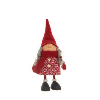 Bambola decorativa lana rossa con movimento a molla