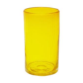 Vaso cilindrico vetro colorato in pasta