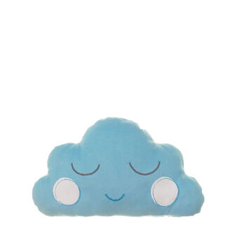 Cuscino a nuvoletta in micropile azzurro