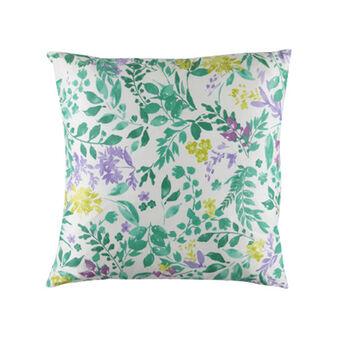 Cuscino puro cotone fantasia botanica