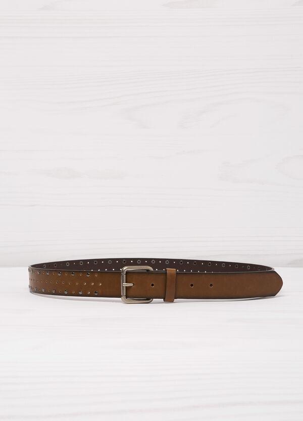 Cintura similpelle traforata borchie | OVS