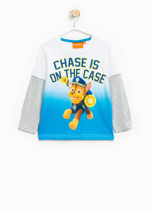 Faux layered cotton T-shirt with Paw Patrol print   OVS