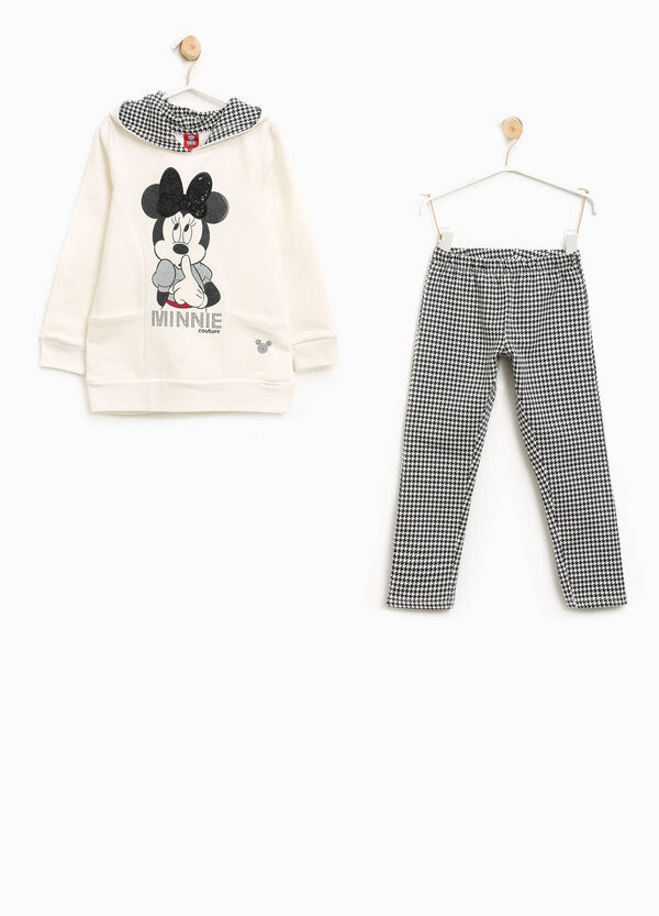 Tuta stretch pied de poule Minnie | OVS