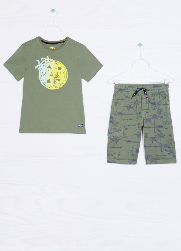 Patterned cotton outfit by Maui and Sons   OVS