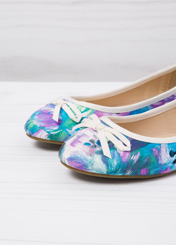 Ballerina pumps with floral print | OVS