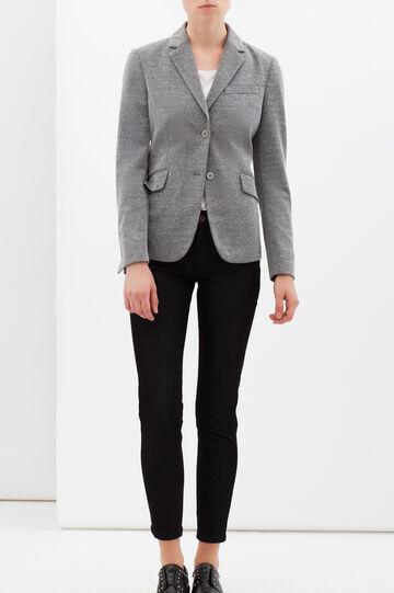 Stretch viscose blend jacket.