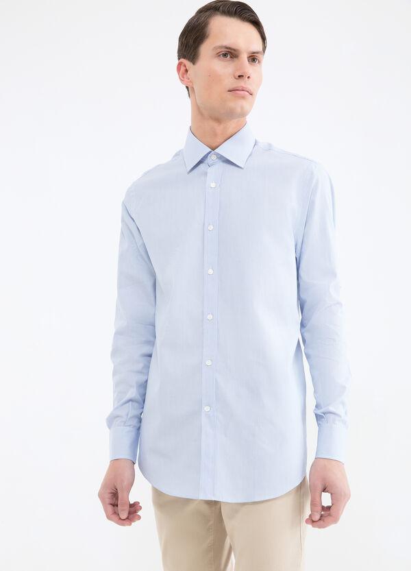 Striped pattern cotton shirt | OVS
