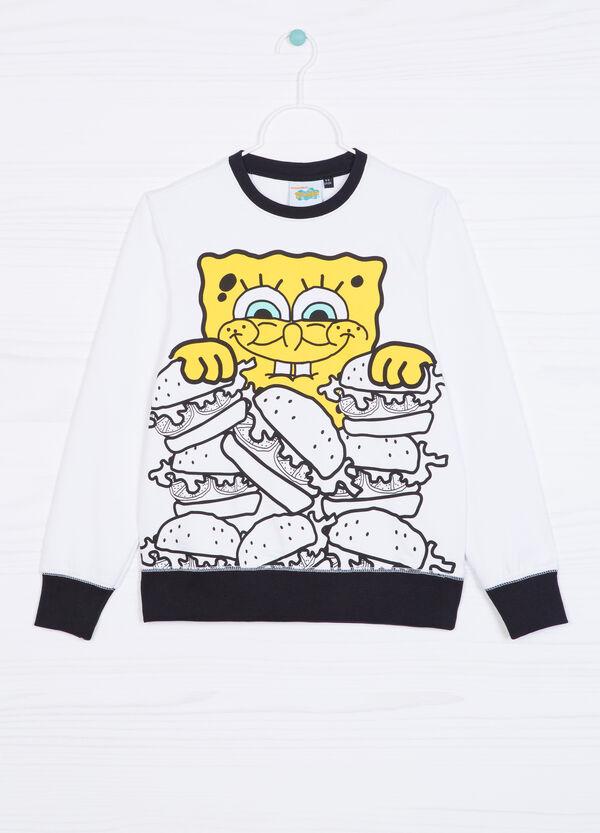 Felpa cotone stampa Spongebob | OVS