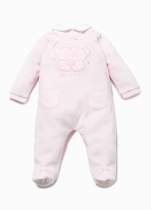 100% cotton onesie with patch and bows | OVS