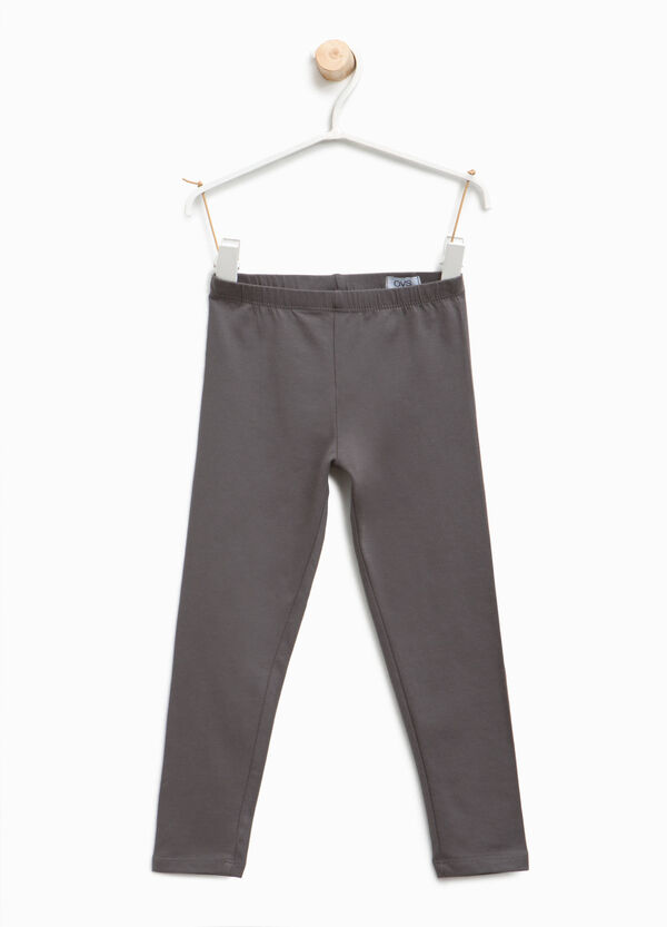 Leggings in cotone stretch tinta unita | OVS