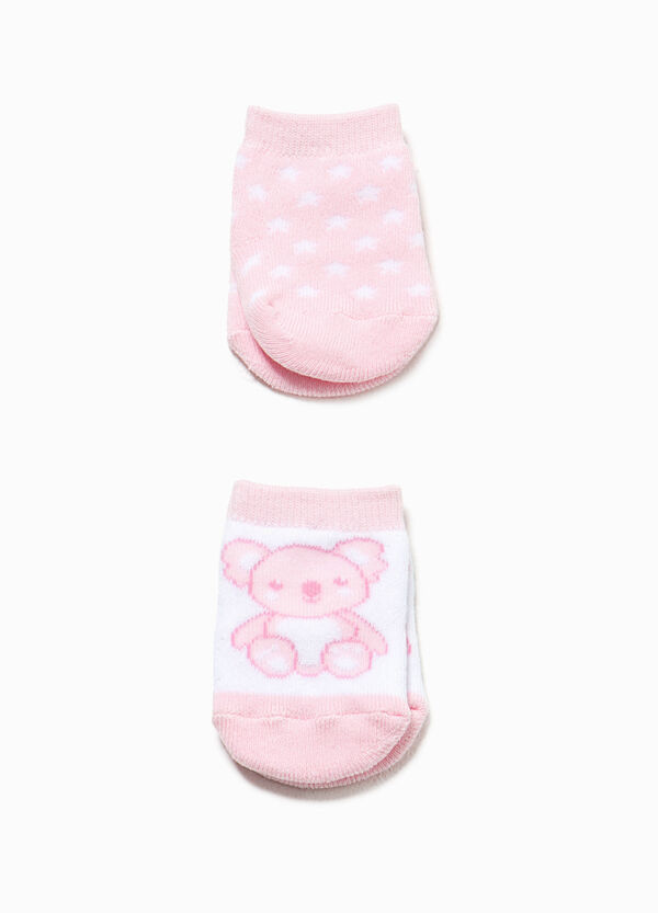 Two-pair pack stars and koala short socks | OVS
