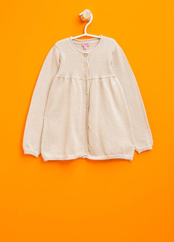 Cardigan in cotone con costina | OVS