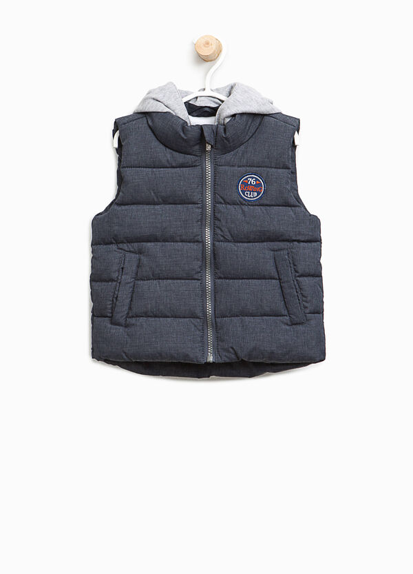 Padded gilet with patch and hood   OVS