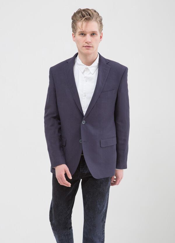 Regular fit jacket in linen and viscose | OVS