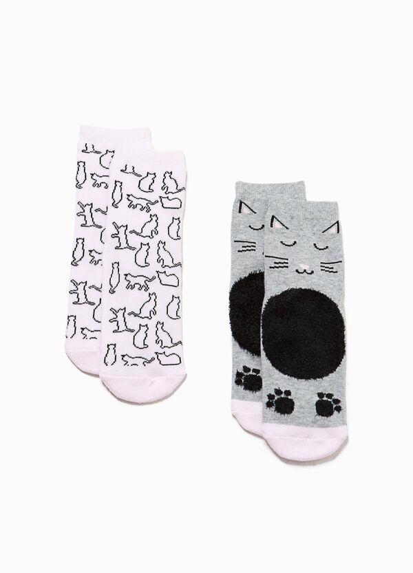 Set due paia di calze corte animaletti | OVS