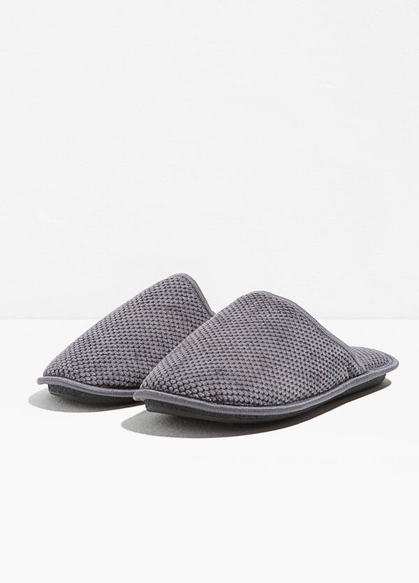 Knitted canvas slippers | OVS
