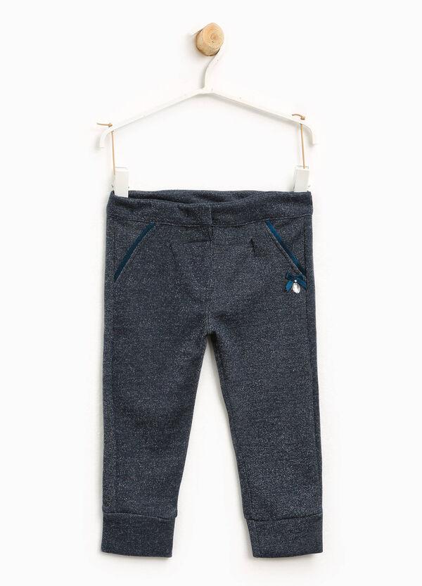 Pantaloni puro cotone fiocchetto e strass | OVS