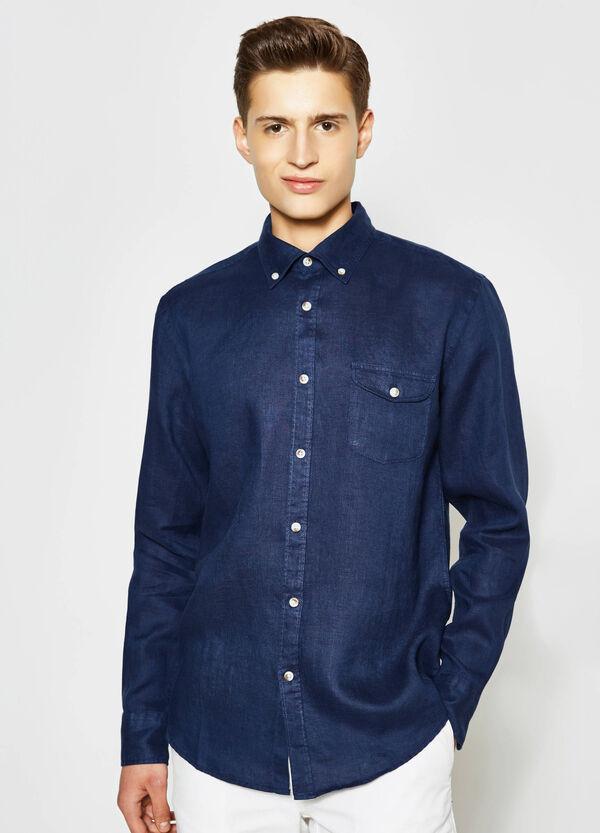 Camicia casual in puro lino | OVS