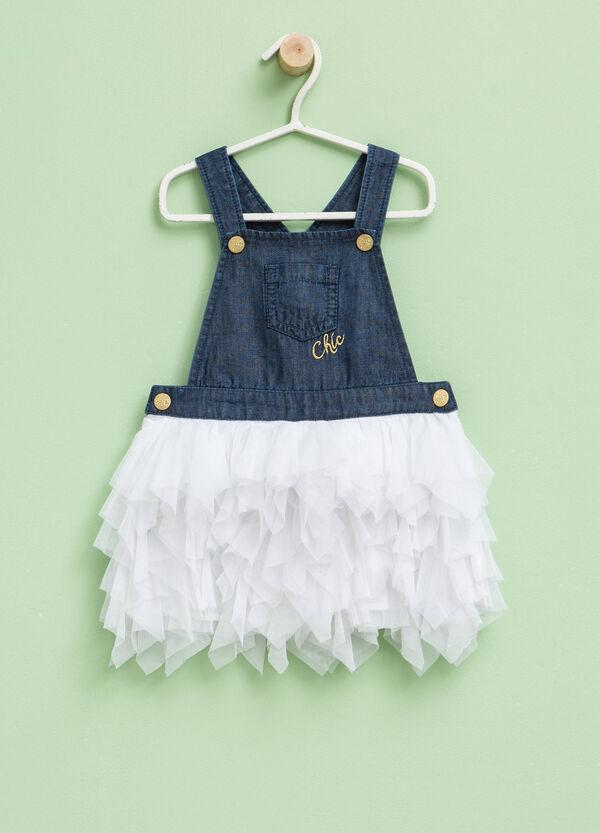 Denim dress with tulle skirt | OVS