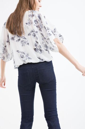 Short-sleeved printed blouse