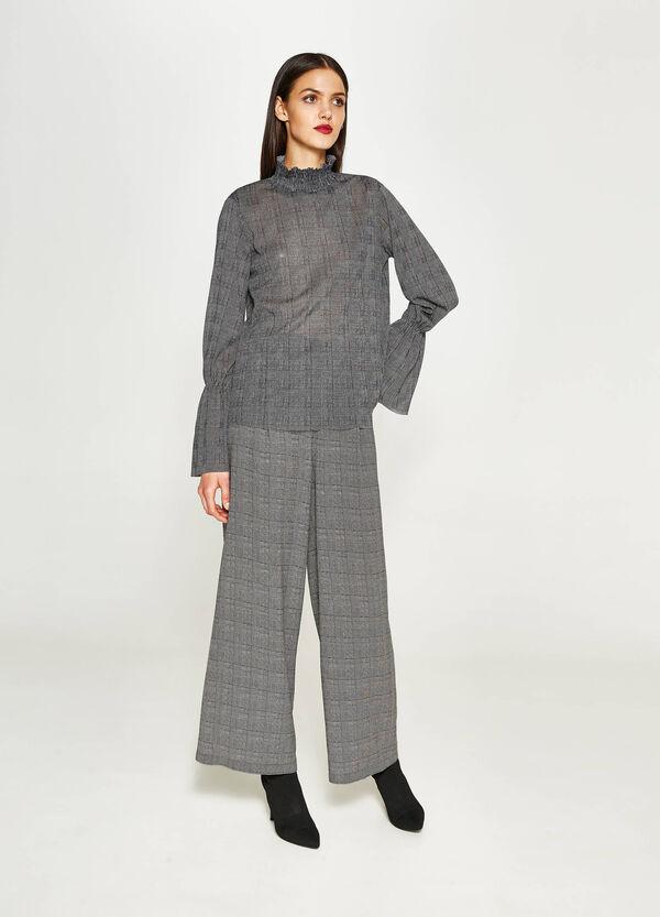 Tartan pattern stretch blouse   OVS
