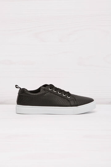 Low-rise sneakers with snakeskin upper