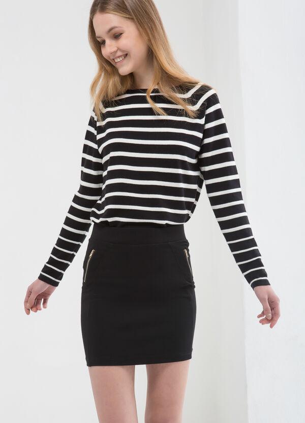 Stretch viscose short skirt | OVS