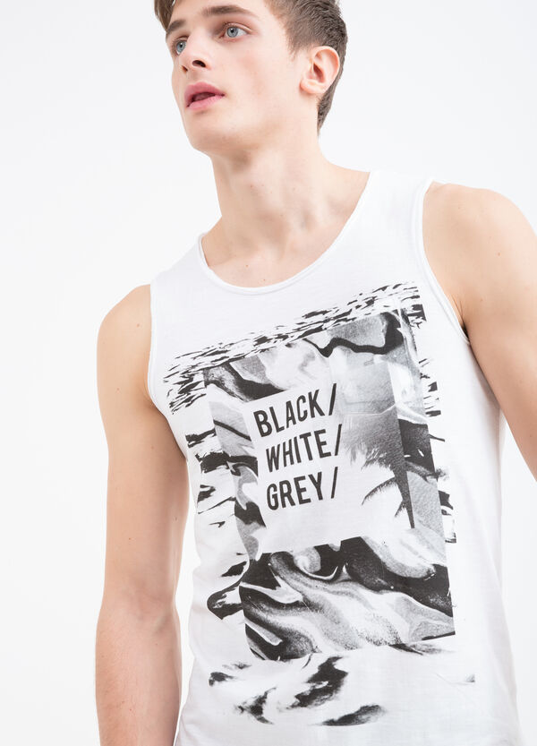 Sleeveless T-shirt in 100% cotton | OVS