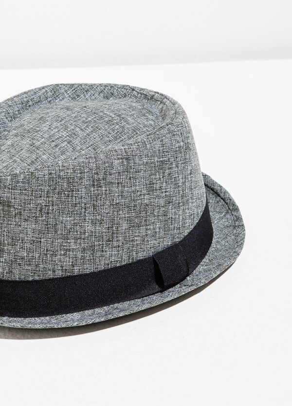 Sombrero jaspeado con ala ancha | OVS