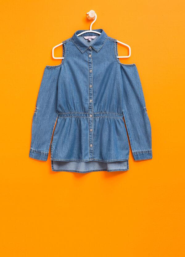 Denim shirt with bluff collar | OVS