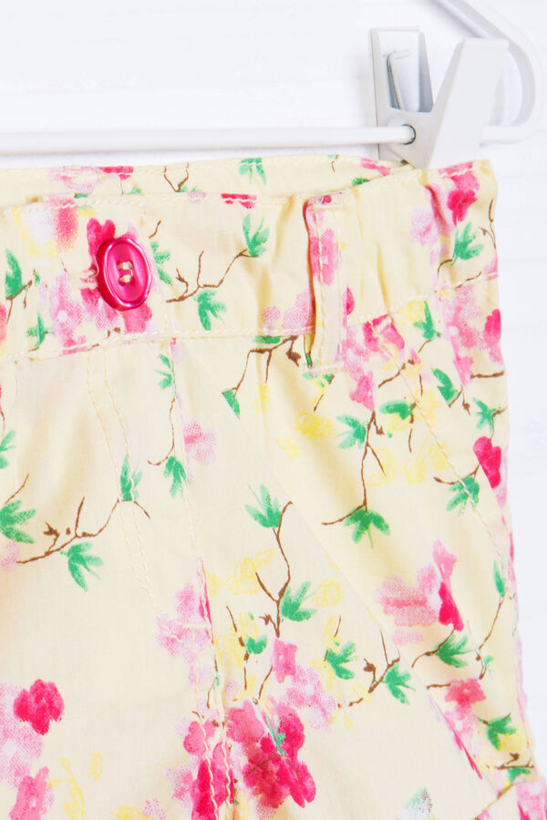 100% cotton shorts with floral print | OVS