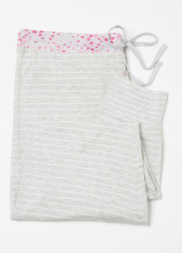 Curvy striped pyjama trousers | OVS