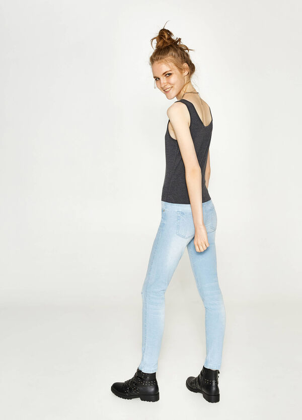 Ripped, skinny-fit stretch jeans | OVS