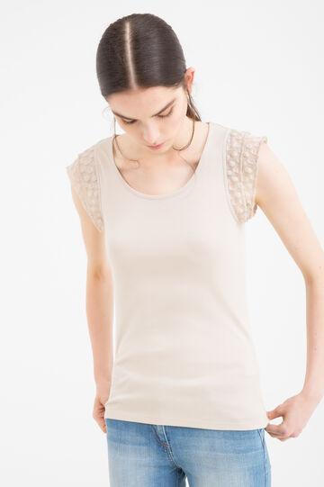 T-shirt puro cotone maniche aletta