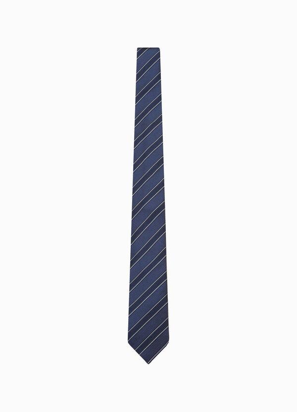 Polka dot and striped silk tie | OVS