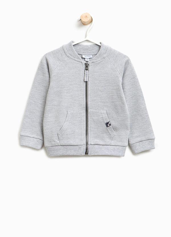 Cotton and viscose sweatshirt with raglan sleeves | OVS