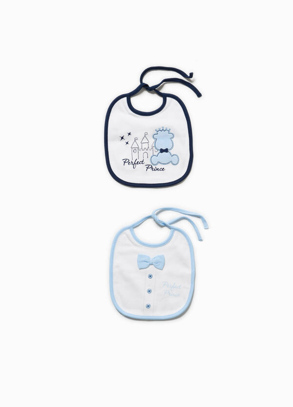 Two-pack embroidered and printed bibs | OVS