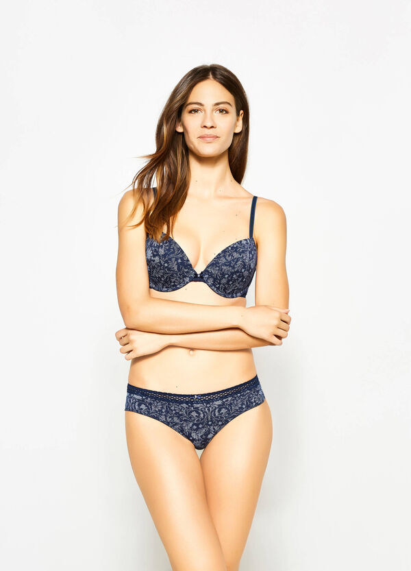 Reggiseno push up stampa all-over | OVS