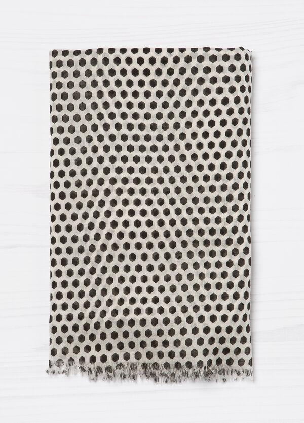 Sciarpa puro cotone con stampa | OVS