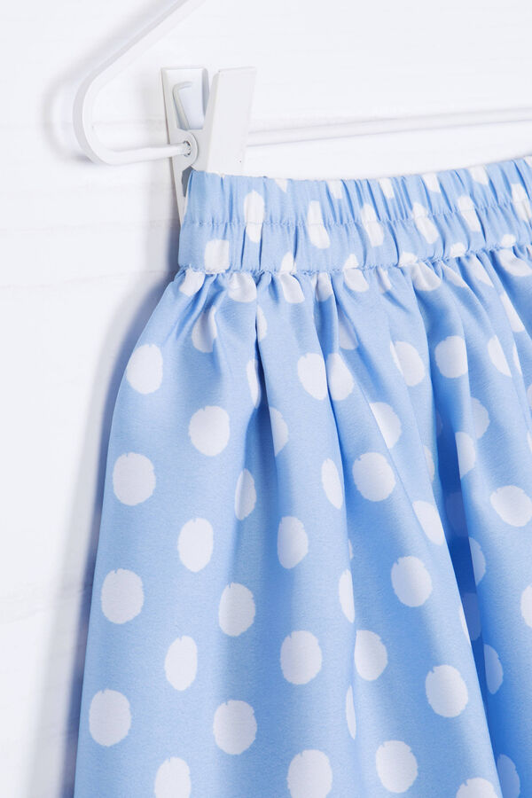 Skirt with polka dot print. | OVS