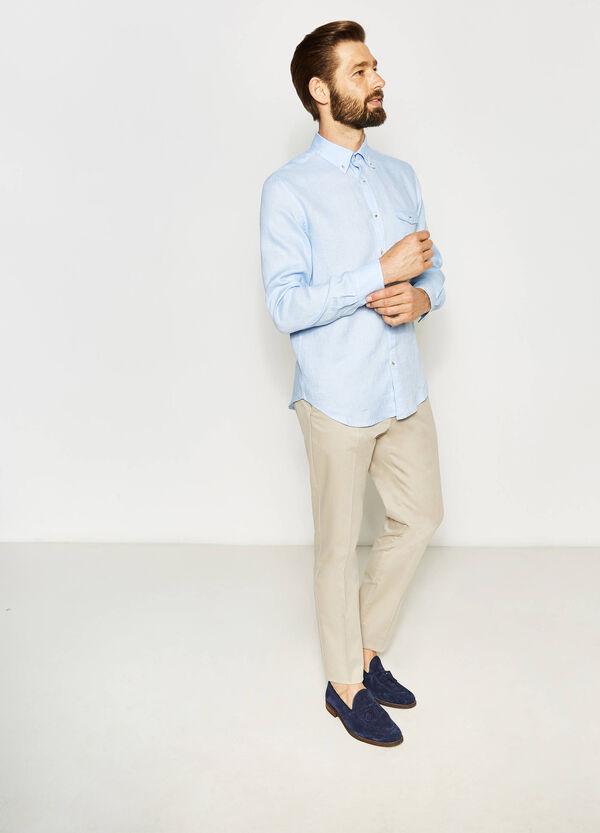 Camicia casual in puro lino   OVS