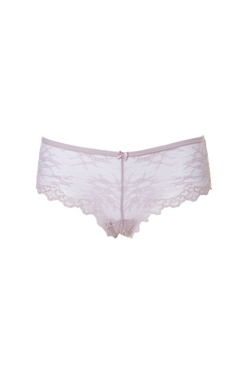 Lace French knickers with bow