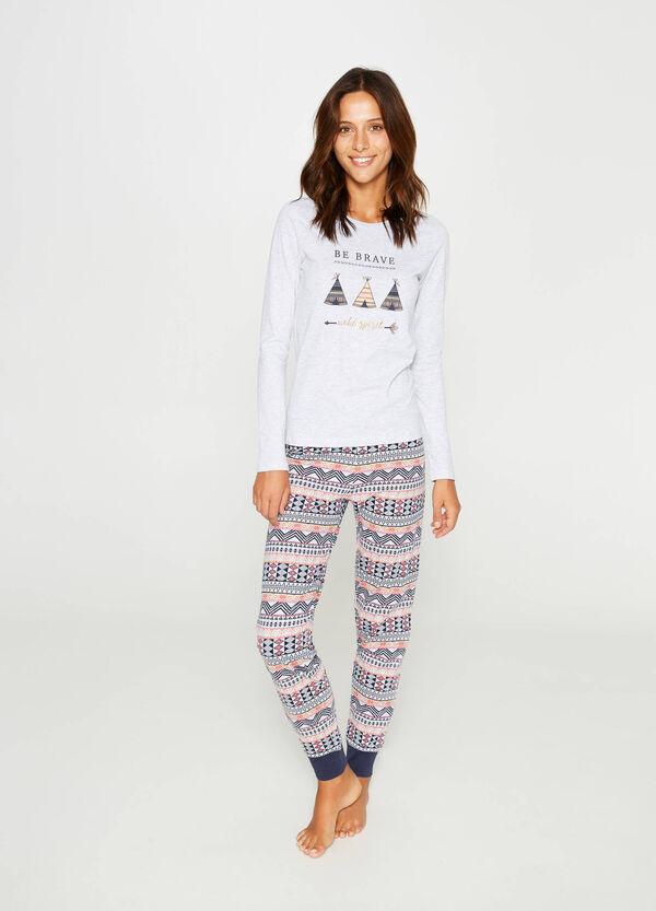 Ethnic pattern cotton pyjamas | OVS