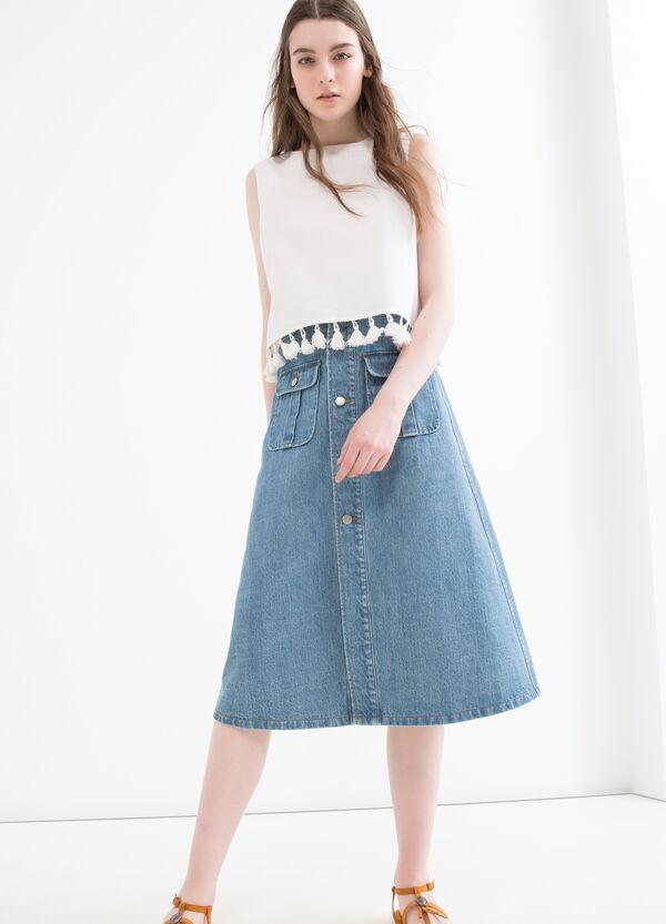 Denim skirt with pockets | OVS
